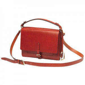 borsa in pelle rossa